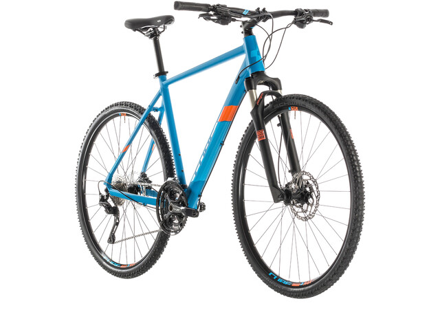 Cube Cross Pro Hybridcykel blå (2019) | City